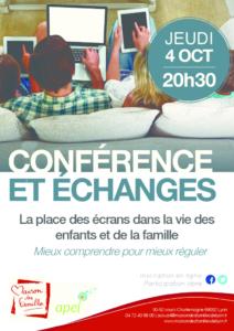 thumbnail of Conférence La place des écrans – Affiche Oct